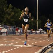 CU track and field runner