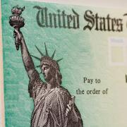 Stock image of a U.S. Treasury check