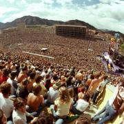Folsom Field during The Rolling Stones concert in 1981. (Photo by Michael Goldman (Pharm'78).)