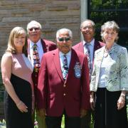 Tuskegee Airmen chapter leaders with CU Boulder officials