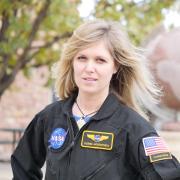 Portrait of Ulyana Horodyskyj in her NASA uniform
