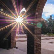 Sunset at UMC fountain area