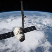 SpaceX Dragon capsule.