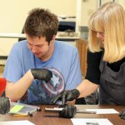 undergraduate students at a workshop