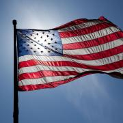Stock image of an American flag