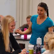 Valerie Otero teaches a class