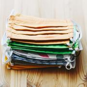 stack of reusable cloth masks