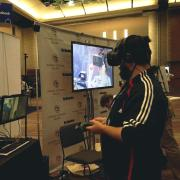 Man tries virtual reality