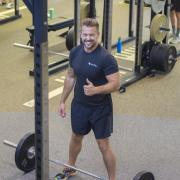 Man lifting weights.