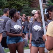 Students in The Herd t-shirts