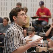 Carl Wieman teaching a class at CU Boulder