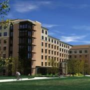 Artistic rendering of proposed Williams Village East Residence Hall