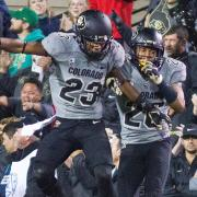 Ahkello Witherspoon celebrates in 2015's football game against Oregon