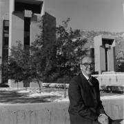 Walter Orr sits outside on campus