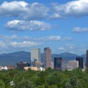 Shot of Denver skyline