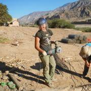 Zoey Craun working with Bridges to Prosperity in Bolivia