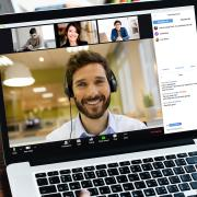A stock image of a Zoom meeting