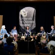 The Academic Futures panel addresses audience questions.
