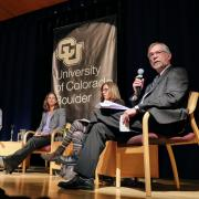 Vice Provost Jeff Cox moderates the Academic Futures panel.