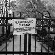 'Playground closed in accordance with executive order in response to COVID-19'