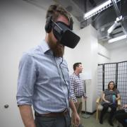 Person testing out new virtual reality therapy
