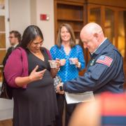 Scott Kelly gives an autograph at the reception; photo by Patrick Wine