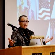 Beverly Tatum speaks at the VIP session during the Diversity and Inclusion Summit. Photo by Casey A. Cass.