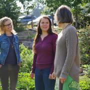 Professor Jill Litt, undergraduate researcher Eva Coringrato and research assistant Erin Decker