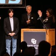 Ken Burns after receiving the Wallace Stegner Award