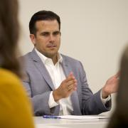 Governor Ricardo Rossello speaks about his country during campus visit, photo by Casey A. Cass