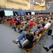 A packed room for Turning Point USA;  photo by Glenn Asakawa