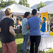 Students visit Welcomefest booth