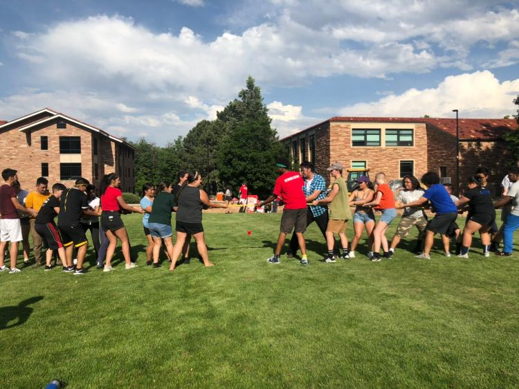 Students participating in field day for Summer Ready 2019