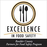 Excellence in Food Safety logo from Boulder County Partners for Food Safety