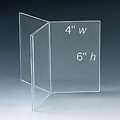 """Table tent frame showing 4"""" wide x 6"""" high"""
