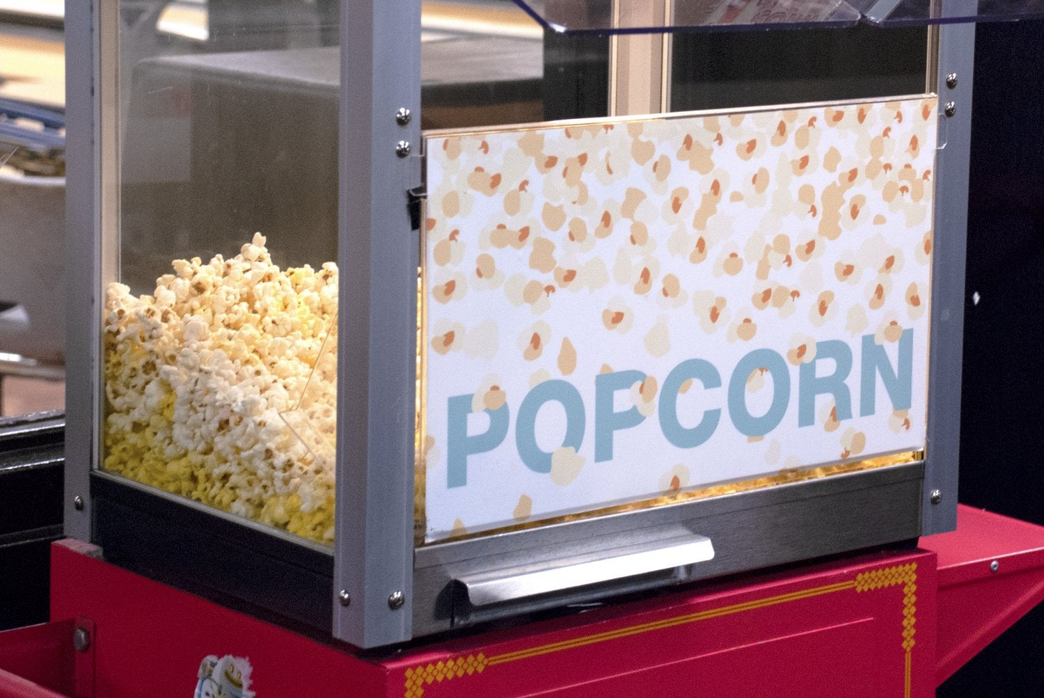 Popcorn machine in The Connection