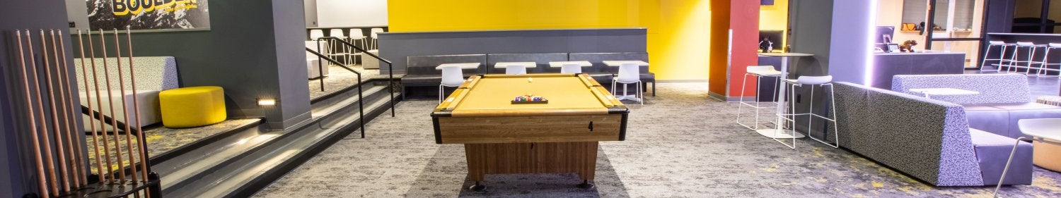 Photo of billiards tables in The Connection