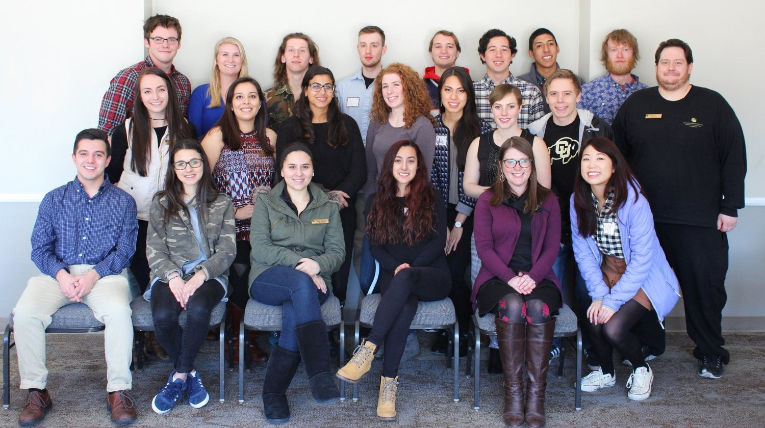 Students attending the UMC Student Employee Leadership Retreat in February 2017