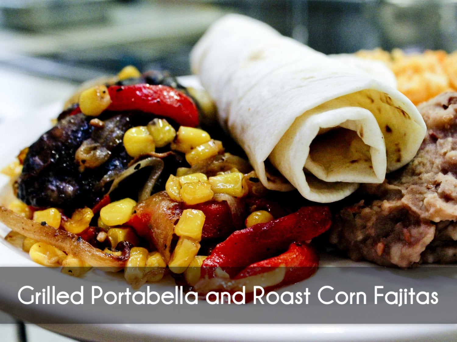 Grilled Portabella Mushroom with roasted corn salsa