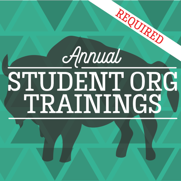 Annual Student Org Trainings - Required