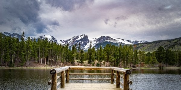 "A photo titled ""Sprague Lake Deck"" by David Goudy"