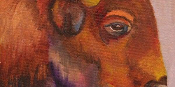 """A painting titled """"The Buffalo"""" by Jennifer Lick"""