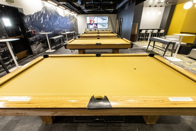 Billiards tables at The Connection