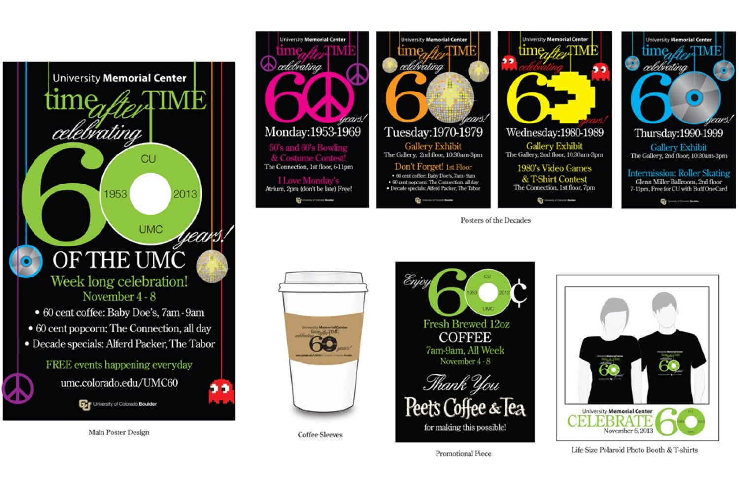 The design work for UMC 60th Birthday Campaign that won 1st place.