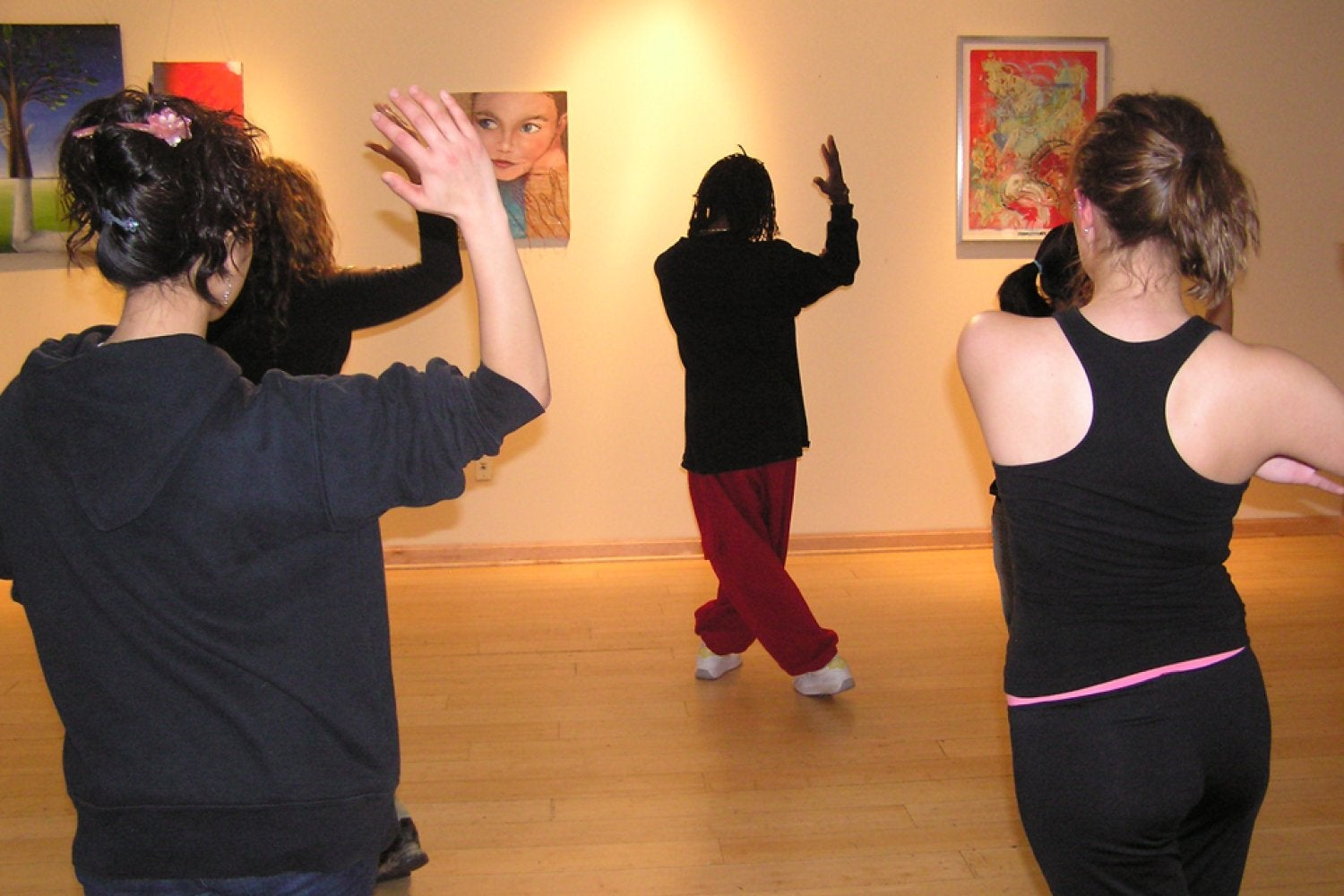 A dance class in the Dennis Small Cultural Center, 4th floor UMC
