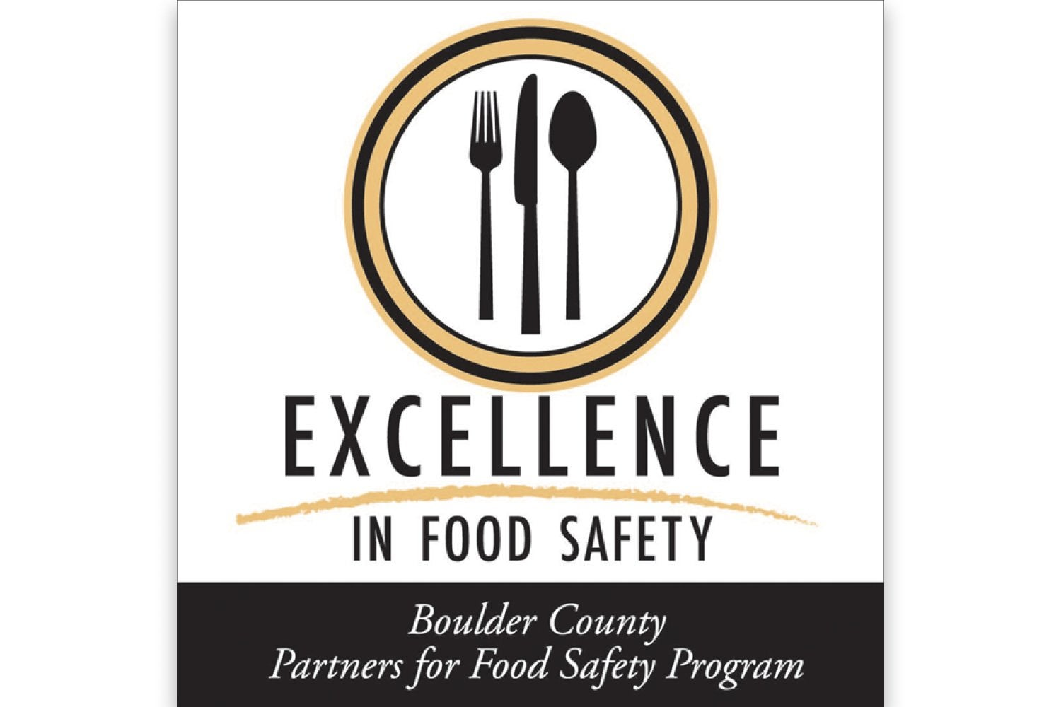 Logo for the Boulder County Partners in Food Safety program