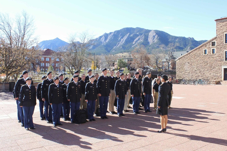 Members of the CU ROTC