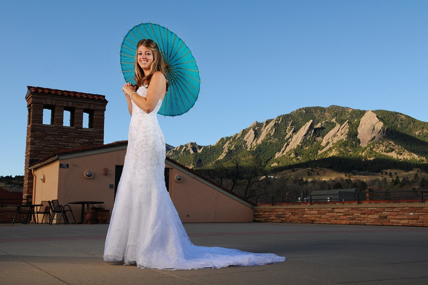 Bride on the Rooftop