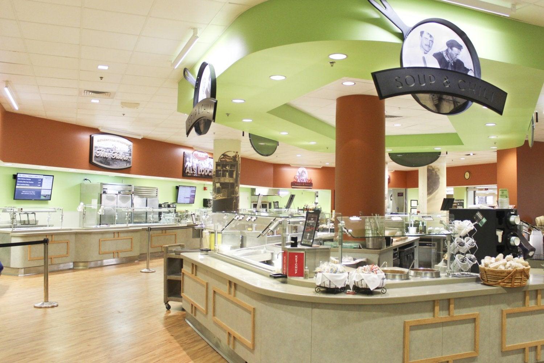 Alferd Packer Restaurant & Grill interior showing large salad bar
