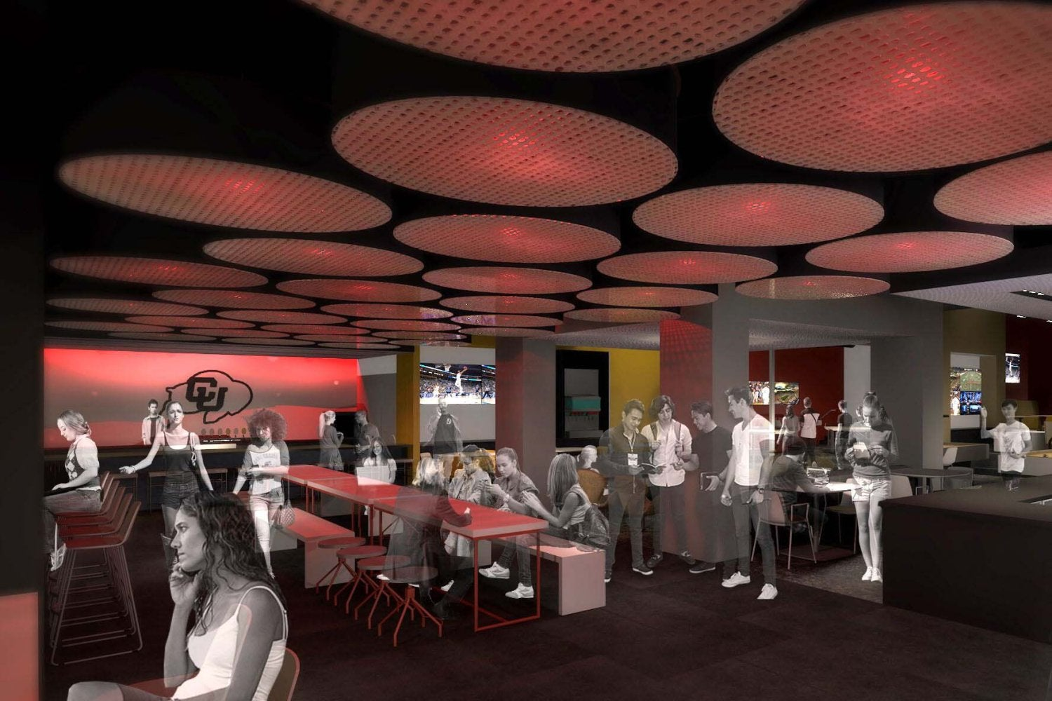 A rendering of what The Connection lounge will look like after renovation